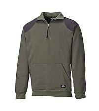 Dickies Kendrick Sweat  AG8500 mossgrün  Herren Pullover Half Zip Sweater Shirt
