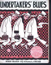 Undertakers' Blues 1917 Large Format Sheet Music