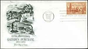 US FDC #1028 Artmaster Cachet Tucson, AZ Gadsden Purchase