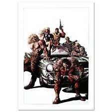 STAN LEE signed AVENGERS Marvel ORIGINAL COMIC Artwork CANVAS COA Mike Deodato