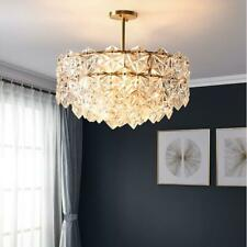 Creative 9-Light Ceiling Chandeliers Living Room Luxury Crystal Pendant Lamps