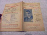 Recueil Dix Monologues et Chansons Humoristiques Comiques Raymond Souplex