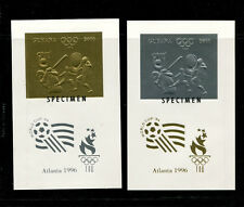 Guyana(1993)1996 Olympics Michel 4294-99v SPECIMEN  ERROR 6 IMPERF DELUXE SHEETS