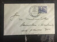 1936 Berlin Germany Olympic Cover & Cancel 25 Stamp