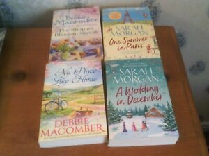 4 MIXED ROMANCE BOOKS P/B   DEBBIE   MACOMBER + SARAH MORGAN
