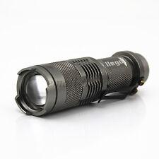 ilego Mini 7W300LM CREE Q5Flashlight Adjustable Focus Zoom LightLamp New Silver