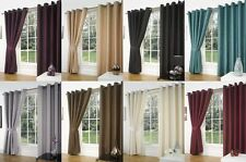 Faux Silk Contemporary Curtains & Blinds