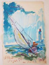 Peinture signée. Painting signed Marie-Pierre ESTEVE