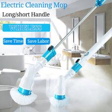 New Multi Cordless Electric Power Scrubber Brush Rotating Bathtub W/ Long Handle