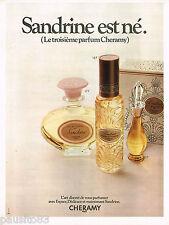 PUBLICITE ADVERTISING 065  1970  CHERAMY  parfum femme SANDRINE