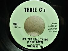 """1970s Funk 7"""" SUPERLATIVES – It's The Real Thing (Your Love) / Forget Him *HEAR"""