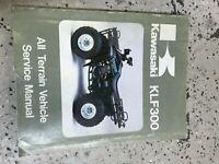 1986 1987 1988 Kawasaki KLF300 ATV Service Shop Workshop Repair Manual OEM