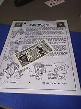 Ken Brooke Squircle Magic Trick Paper Tear Louis Tannen