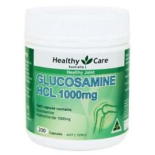 Healthy Care Glucosamine HCL 1000mg 200 Capsules, for joint health / cartilage