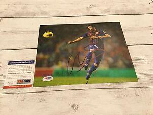 David Villa Signed Barcelona FC 8x10 Photo PSA/DNA COA Autographed e