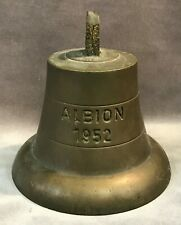 1952 Hms Albion R07 British Navy Commando Carrier Bronze Ship's Bell