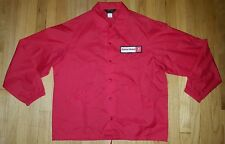 NOS vintage 80s FIRESTONE jacket L Swingster mechanic red tire auto car racing