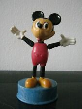 VINTAGE MICKEY MOUSE PUSH UP PUPPET TOY PLASTIC