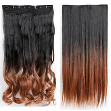 100% Real Thick Clip In Hair Extensions 3/4 Full Head Hair Extentions Long Human