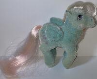 Vintage MLP My Little Pony G1 So Soft Wind Whistler Pegasus Blue Flocked Fuzzy