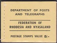 Rhodesia and Nyasaland: 1955 5/- booklet, SG SB1