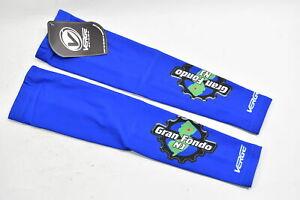 Large Men's Verge Gran Fondo NJ Fleece Cycling Arm Warmers Royal Blue CLOSEOUT