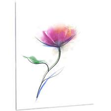 Design Art 'Vector Watercolor Floral Design' LED Painting Print on Metal