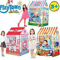 KIDS CHILDREN TENTS PLAY HOUSE FUN INDOOR /OUTDOOR BOYS GIRLS TOYS GIFT SET NEW