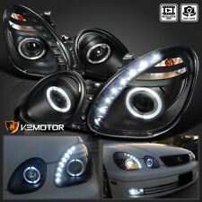 For 98-05 Lexus GS300 GS400 JDM Black Projector Headlights+SMD LED DRL