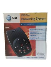 Digital Answering System ATT&T 1726 With 3 Mailboxes Time/Day Stamp Free Shippin