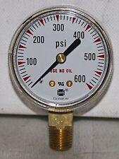 """0-600 PSI  2"""" Dial 1/4""""NPT Brass Pressure Gauge AMETEK NEW"""