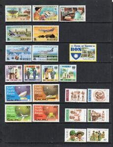 NAURU MNH 1979-1983 VARIOUS SETS (2 SCANS)
