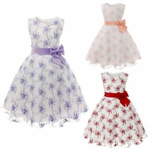 Party Kid Wedding Formal Girl Dresses Baby Princess Dress Bridesmaid Flower Tutu