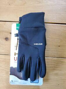 HEAD Gloves Men's Ultrafit Touchscreen Fleece Running Gloves Black