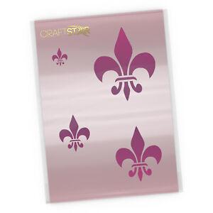 Fleur De Lys Stencil Set -  Reusable Classic Fleur De Lis Stencils by CraftStar