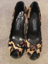 Stuart Weitzman For Russell & Bromley Leopard Print High Heel Shoes Size 4.5