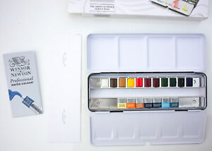 Winsor & Newton Artists Choice Professional Water Colour Set of 18 - tested only