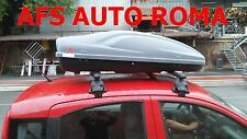 BOX AUTO PORTABAGAGLI G3 ALL TIME 400+BARRE PORTATUTTO FIAT PANDA 2006 NO RAILS