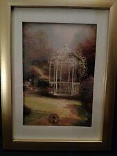Lilac Gazebo by Thomas Kinkade in 5.5x7.5 Wall/Tabletop Gold Matte Frame