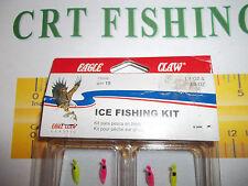 EAGLE CLAW ICE FISHING KIT 15 PIECE 1/4 & 3/8 OZ 151ANL