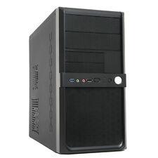 CIT Shade Atx Micro Torre Pc Gaming Funda Con 500 W PSU Negro 3 Puertos Usb Y Audio