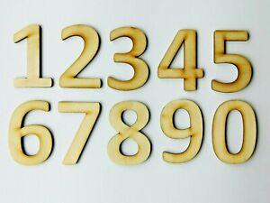 Laser Cut Numbers 4cm -12cm, 3mm thickness Plywood, Set of 10, Calibri Font, F1