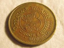 Rare 1981 Hayward CA Chuck E Cheese PizzaTime City TOKEN COIN