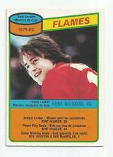 1980-81 OPC #106 KENT NILSSON CALGARY FLAMES TEAM CHECKLIST  O-PEE-CHEE