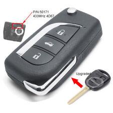 Upgraded Flip Remote Key 433MHz 4D67 for Toyota Prado 120 RAV4 Kluger FCC: 50171
