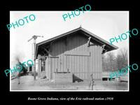 OLD LARGE HISTORIC PHOTO OF BOONE GROVE INDIANA, ERIE RAILROAD STATION c1910 3