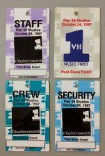 Lot Of 4 1997 10/24 Celine Dion Plastic Backstage Passes Fashion Awards