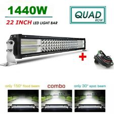 "1560W 4ROW 22INCH CURVED LED WORK LIGHT BAR SPOT FLOOD COMBO vs 20'' 22"" 24''"