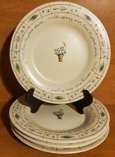 "Pfaltzgraff Perennials FLOWER GARDEN Salad plate set(s) of 4, 8"", USA, Excellent"