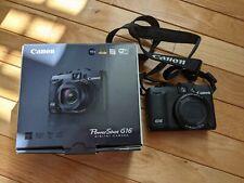 Canon PowerShot G16 Digital Camera with WiFi Black Battery Charger Original Box